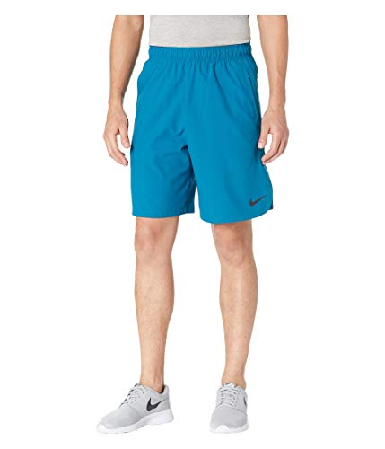 Nike Men's 8'' Flex Woven Training Shorts 2.0 (Green Abyss/Black, Large)