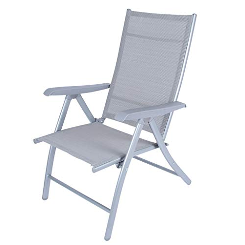 KHL 7-Speed Adjustable Recliner Lounge Chair Zero Gravity Lounge Chair Suitable for Garden Outdoor Folding Pool Area Indoor Bedroom - Grey (Me Near Lounges Outdoor)