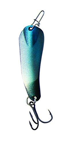 Custom Jigs & Spins Slender Spoon Pro Nickel/Blue Shiner 1/8 Oz. SL18-P-127