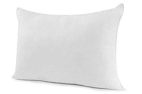 Live & Sleep Memory Foam Pillow – Side Sleeper Pillow for Neck and Shoulder Pain, Home Cooling Pillow - Medium Firm Pillow - Shredded CertiPUR Certified, Soft Plush Fabric Cover - Standard Pillow