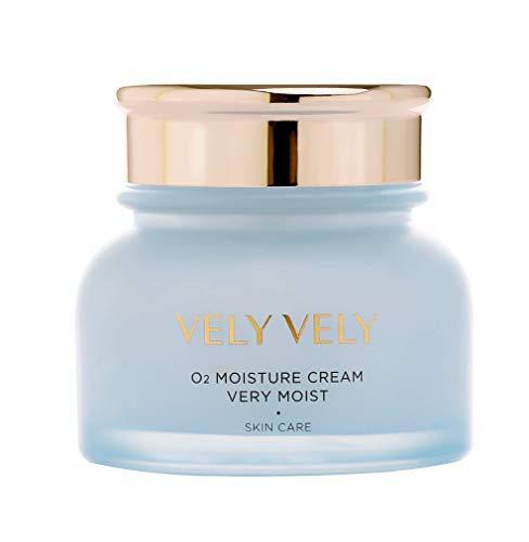 VELY VELY O2 Moisture Cream Very Moist - 4-Seasons Protein Complex, Aquaxyl, Natural Skin Balance, For Dry Skin, Gentle On Skin (50 ml/1.69 fl oz)