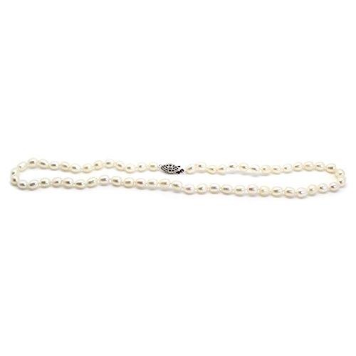 Agua dulce Pearl Drop collar con pendientes de gota–por Luxelu Londres (Natural), color blanco