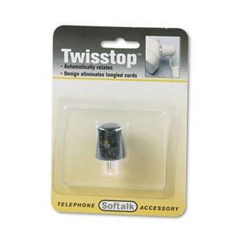 Twisstop Detangler (Softalk® Twisstop™ Phone Cord Detangler CONNECTOR,TWIST,PHONE,BK (Pack of20))