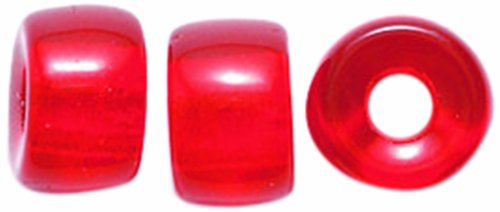 (Preciosa Ornela Traditional Czech Glass Crow Roller 30-Piece Beads, 9mm, Transparent Ruby, )