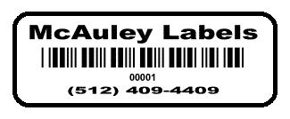 2000 Custom 1.5 x .5 White Polyester Asset Tags / Labels Various Quantities
