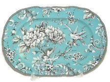 222 Fifth Adelaide Turquoise Serving Platter - Approximately