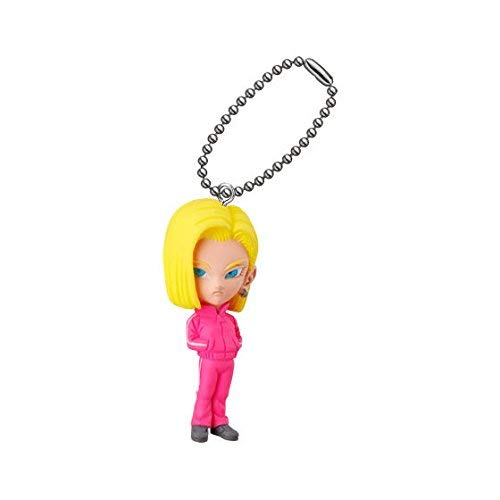Re Bandai Gashapon Dragon Ball Udm Burst 31 Figure Swing Keychain~Android 18 Lazuli