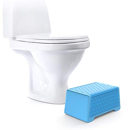 Doctor Designed Bathroom Toilet Stool and Sink Stool for Children - The EasyStool Children's Dual Height Multifunction Stool (Average Width Stool)