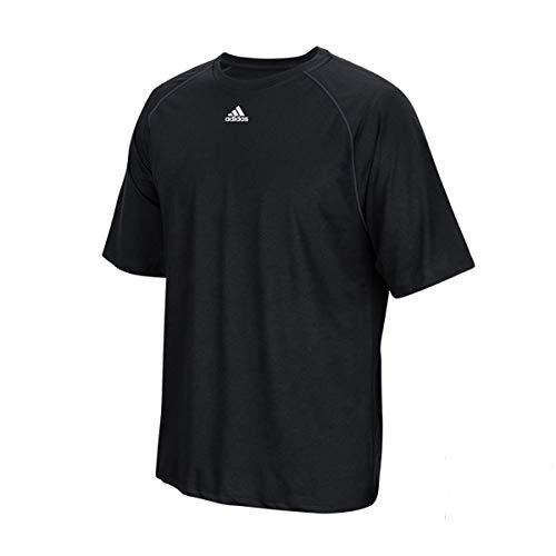 adidas Climalite Men's Short Sleeve Logo T-Shirt (Large, Black)