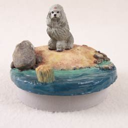 Conversation Concepts Miniature Poodle Gray Candle Topper Tiny One ''A Day on the Beach'' by Conversation Concepts