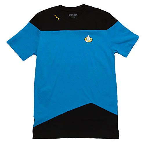 Star Trek: The Next Generation Uniform Adult T-Shirt - Science Blue (Large) ()