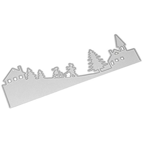 Scary Halloween Cut Out Templates (Lanhui_Merry Christmas Exquisite Metal Cutting Dies Stencils Scrapbooking Embossing DIY Crafts help children's develop intelligence (B))