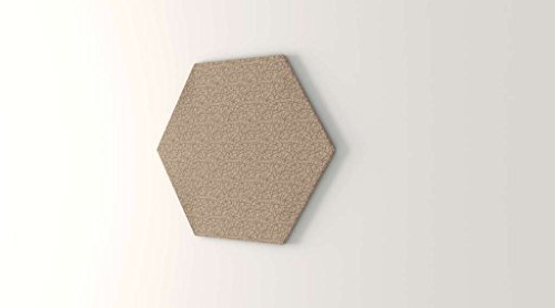 Obex 48-TB-H-AL 48'' Obex Hexagon Tackboard, Almond, 48'' by OBEX