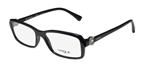 Vogue Woman Vo5001B Black Plastic Rectangle Eyeglasses