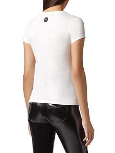 shirt Philipp Blanco Mujer Plein T Algodon Wtk1251pjy002n01 FrqrYwa7
