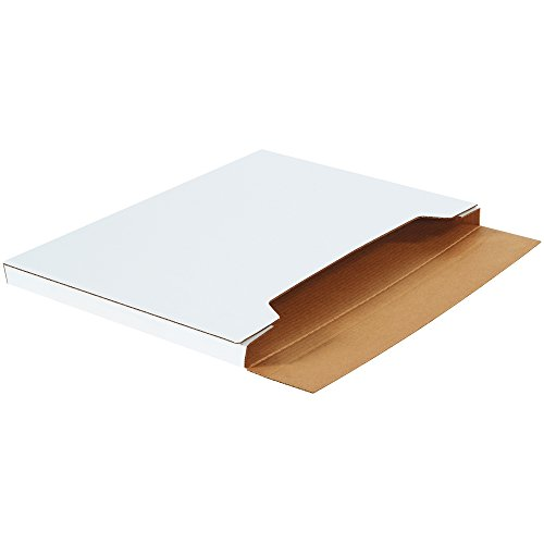 Boxes Fast BFM30221 Jumbo White Fold-Over Cardboard Mailers, 30 x 22 1/2 x 1 Inches, Easy Fold Mailers, Corrugated Die-Cut Shipping Boxes, Multi-Depth, Large White Mailing Boxes (Pack of 20)