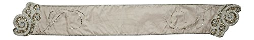 Katherine's Collection Coastal Shells Sequined Beaded Dining Table Runner 72 Inches ()