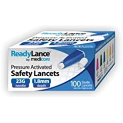 Medicore 805 ReadyLance Safety Lancet, 23 g x 1.8 mm (Pack of 100)