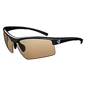 Ryders Eyewear TRIO Cycling Sunglasses with Brown Photochromic Tint Changing Lenses, Black