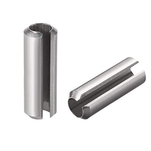 M8 x 40 mm 304 Stainless Steel Split Spring roll pin pins 5 Pieces Smooth Finish Slotted Spring pin