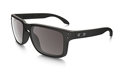 Oakley Holbrook Sunglasses,  Matte Black Frame/Warm Grey Lens, One Size