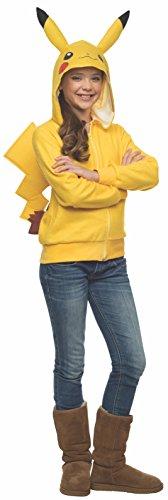 (Rubie's Costume Pokemon Pikachu Tween Novelty Hoodie Costume,)