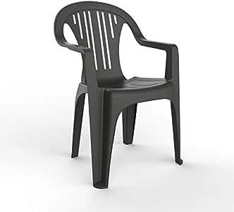 resol set de 4 sillones de jardín exterior Port - color antracita: Amazon.es: Jardín
