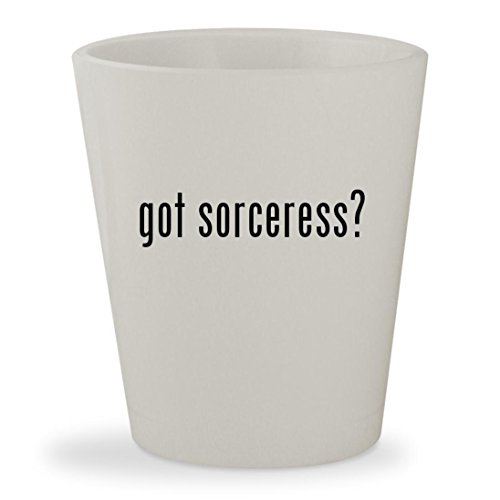 got sorceress? - White Ceramic 1.5oz Shot Glass
