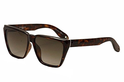 Givenchy Women's Flat Top Sunglasses, Dark Havana/Brown, One - Sunglass Top Companies