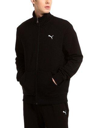 a72c876f2c68 Puma Men s Cotton ESS Sweat Jacket Terry  Black XXL   Amazon.in  Sports