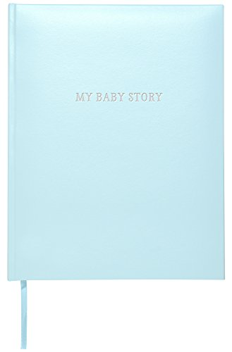 (C.R. Gibson Perfect-Bound Blue Leather Memory Book for Newborn and Baby Boys, 64 Pages, 9