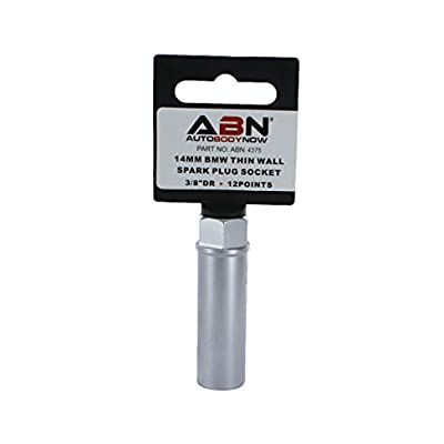 ABN Spark Plug Socket, Thin Wall 14mm 12-Point 3/8in Drive Plug Socket for BMW Car, Truck, Motorcycle: Automotive