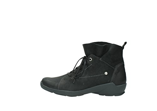 black 10000 nubuck Up Lace Wolky Zapatos nbsp;Bello comodidad 01574 f8YqxS0w