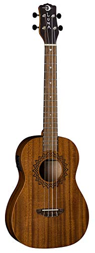 Vintage Stringed Instruments - Luna Baritone Acoustic/Electric Ukelele with Preamp, Vintage Mahogany