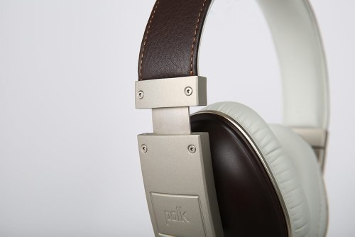 Polk Audio Buckle Headphones - Brown/Gold - with 3 button control and microphone Photo #2