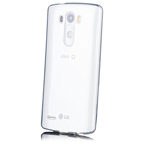 LG G3 | iCues Transparent TPU Case Clear | [Screen Protector Included] Clear Rubber Cover crystal transparent silicone shell TPU minimalist