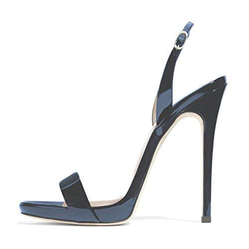 fdc7022232 FSJ Women Sexy High Heel Stiletto Sandals Ankle Strap Slingback Open Toe  Evening Shoes Size 4