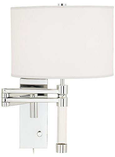 Possini Euro Villasor Chrome Plug In Swing Arm Wall Lamp