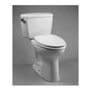 Toto Chrome Plated Trip Lever (TOTO CST744EL#01 Drake 2-Piece Eco Ada Toilet with Elongated Bowl, Cotton White)