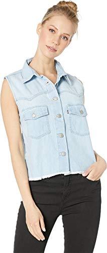 Levi's¿ Premium Women's Sleeveless Addison Shirt Hot Stepper Medium