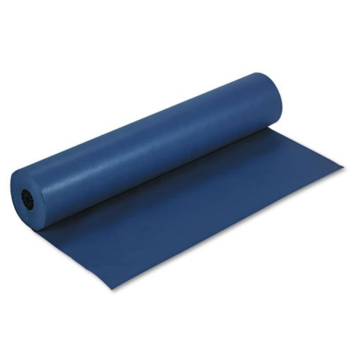Rainbow Duo-Finish Colored Kraft Paper, 35 lbs., 36'''' x 1000 ft, Dark Blue, Sold as 1 Roll