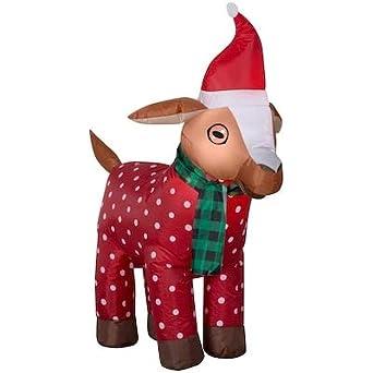 Amazon.com: Gemmy - Cabra de Navidad inflable con bufanda y ...