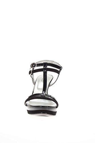 Nero Giardini Femme Sandale fonds plateau P615751DE-100 plateau santal fonds Noir - noir OAV6JZh5