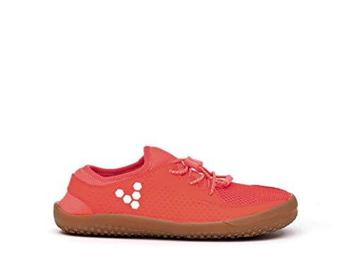Vivobarefoot Primus Kids, Lightweight Trainer with Barefoot Sole Neon Red