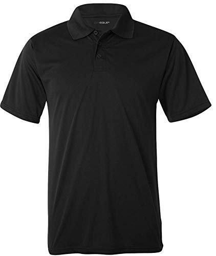 DRI-EQUIP Dry-Wicking Performance 3-Button Mesh Polos in 12 colors. Mens XS-3XL