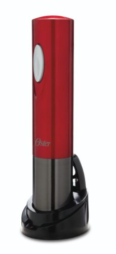 Oster FPSTBW8220 Electric Wine Opener, Metallic Red