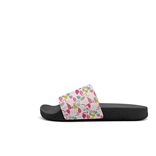 Slippers Flamingo Sandal Pink Tropical Flamingo Slide Lightweight Comfor Pink Leaves Womens Tropical Flowers axBOXgfq