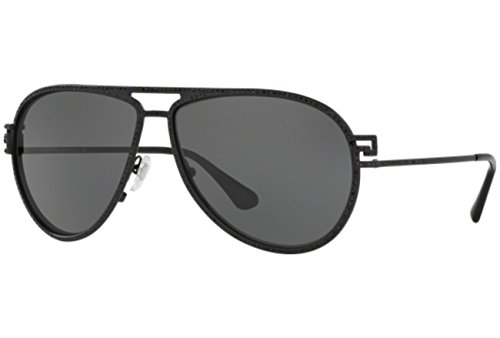 Versace Women's VE2171B Sunglasses Matte Black / Grey - Sunglasses 2171