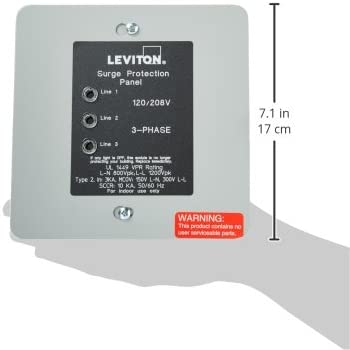 Leviton 51120-3 120 208 Volt 3 Phase WYE Panel Protector, 4-Mode Protection, Light Commercial Residential Grade, In NEMA 1 Enclosure