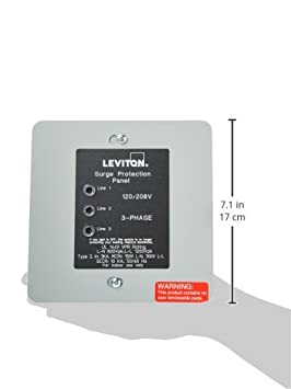 Leviton 51120-3 3-Phase Panel Protector, 120 208-Volt